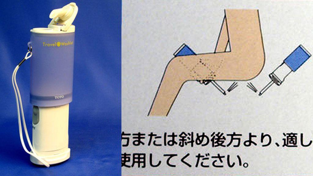 Limpiador anal portátil