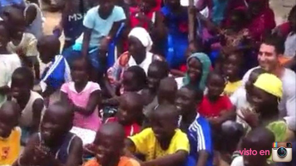 Miguel Ángel Silvestre en Senegal