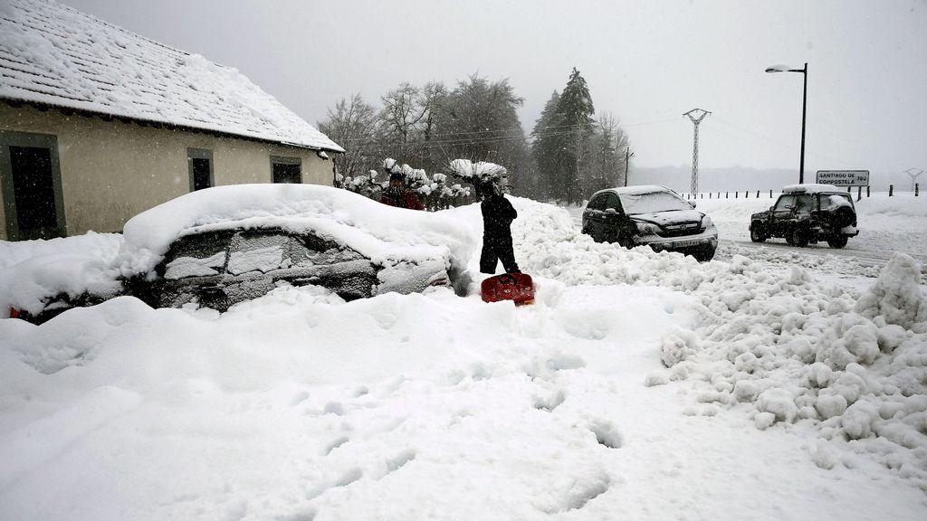 La nieve no da tregua a Navarra