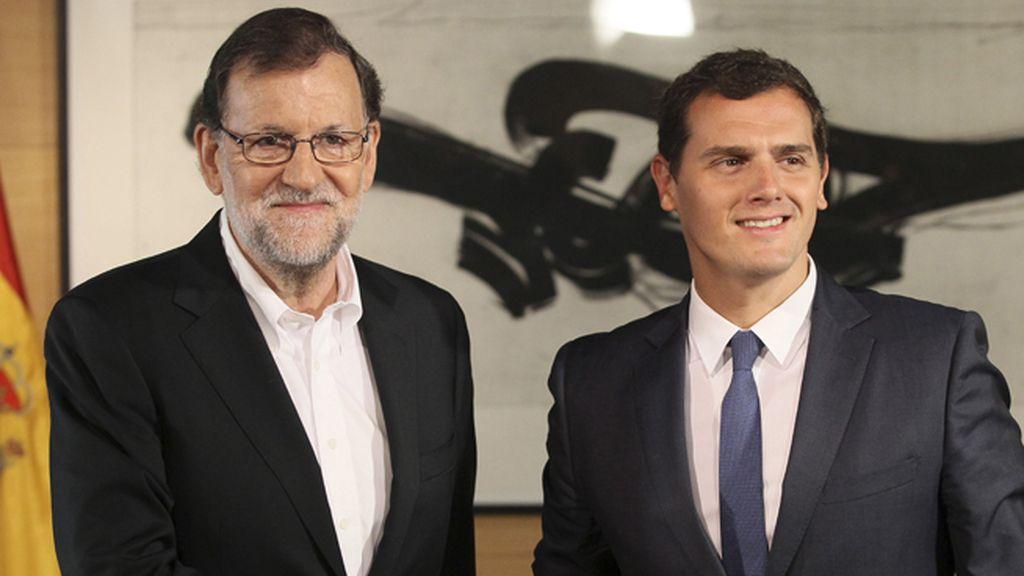 Segunda reunión entre Mariano Rajoy y Albert Rivera