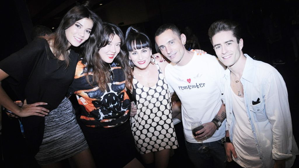 Sheila Márquez, Melania Pan, María Escoté, Pelayo Díaz y David Delfín