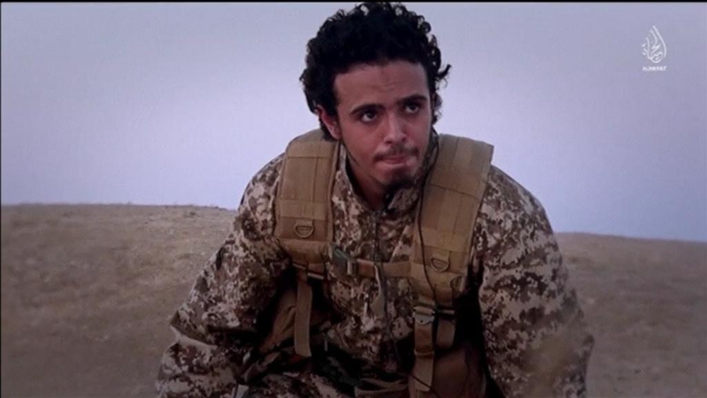 Terrorista en el vídeo de ISIS