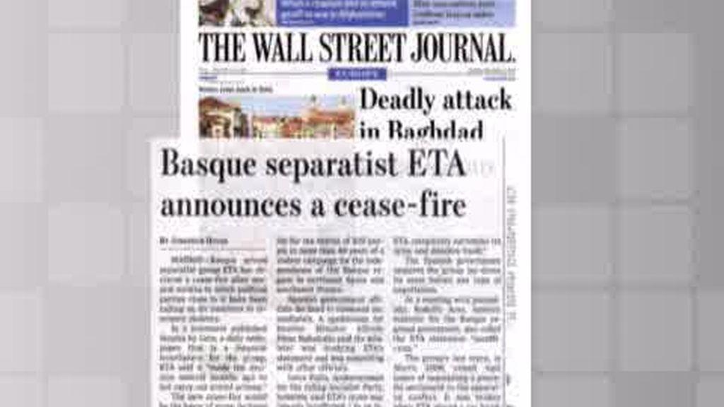 El alto al fuego de ETA en la prensa internacional