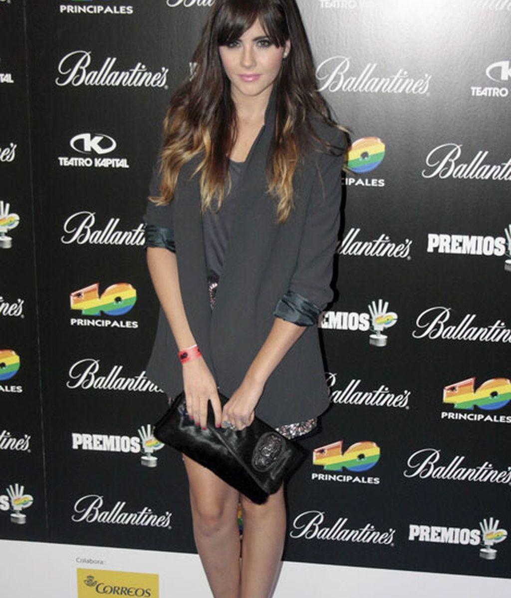 La actriz Lucía Ramos eligió un look sencillo