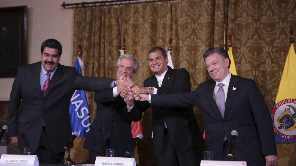 Reunión entre Maduro y Santos