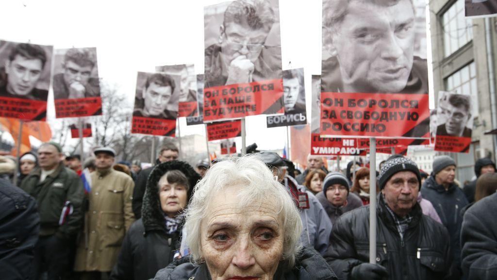 Marcha en Moscú en protesta por la muerte de Boris Nemtsov