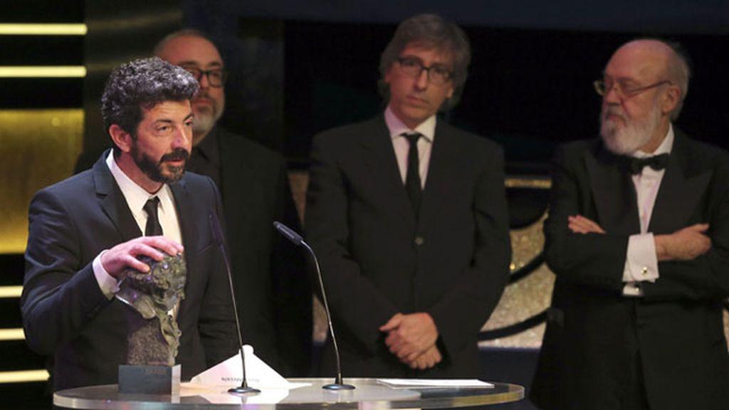 El realizador Alberto Rodríguez recibe el Goya al Mejor Director, por su trabajo en \