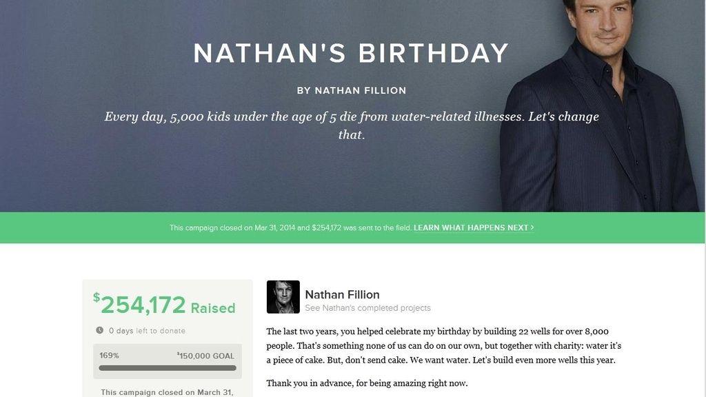 Nathan Fillion, de Castle, celebra su cumpleaños con una subasta solidaria