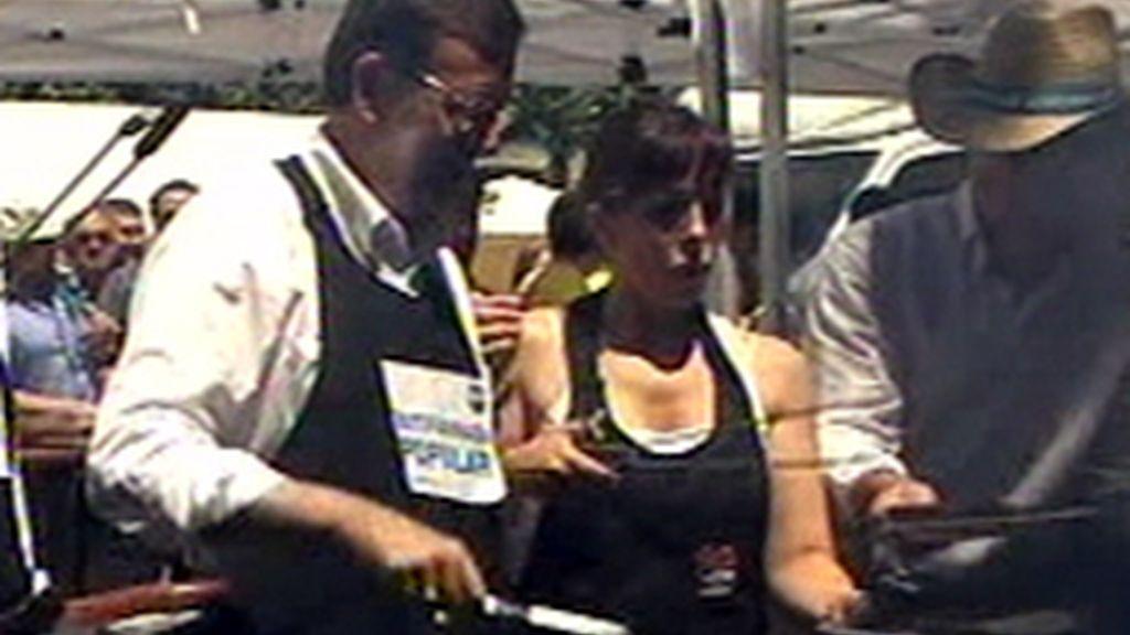 Rajoy en una butifarrada