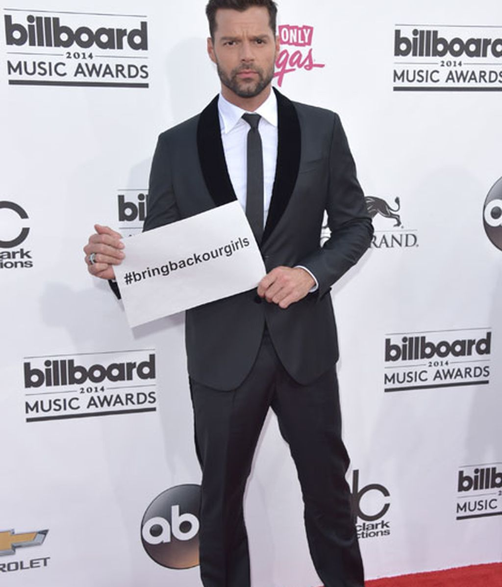 Ricky Martin reivindicativo en la alfombra roja