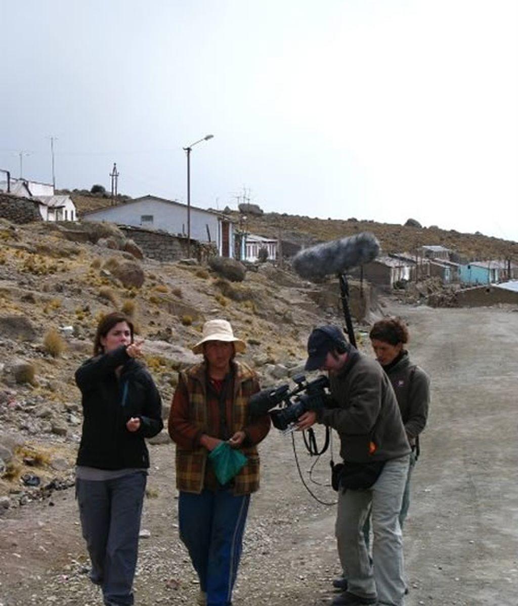 El equipo se prepara para entrar en la mina