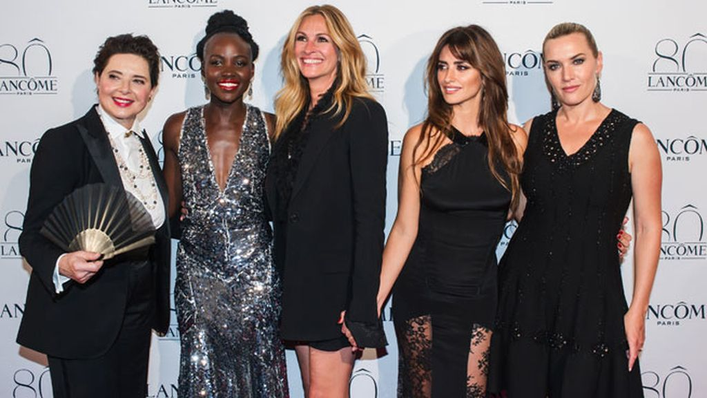 Isabella Rossellini, Lupita Nyong'o, Julia Roberts, Penelope y Kate Winslet, juntas