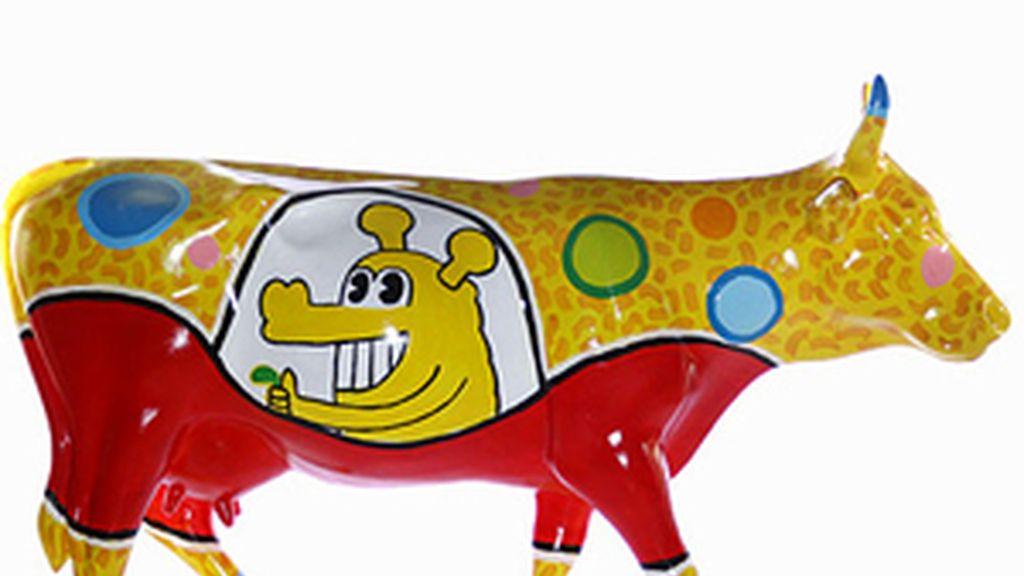 Una de las divertidas vacas de la 'Cow Parade'. Foto: Archivo.
