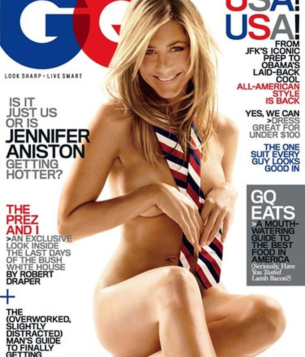 Jennifer Aniston vuelve a posar en topless sin enseñar nada