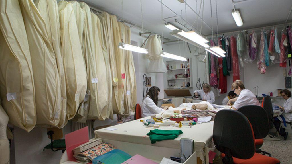 interior del taller de Lorenzo Caprile