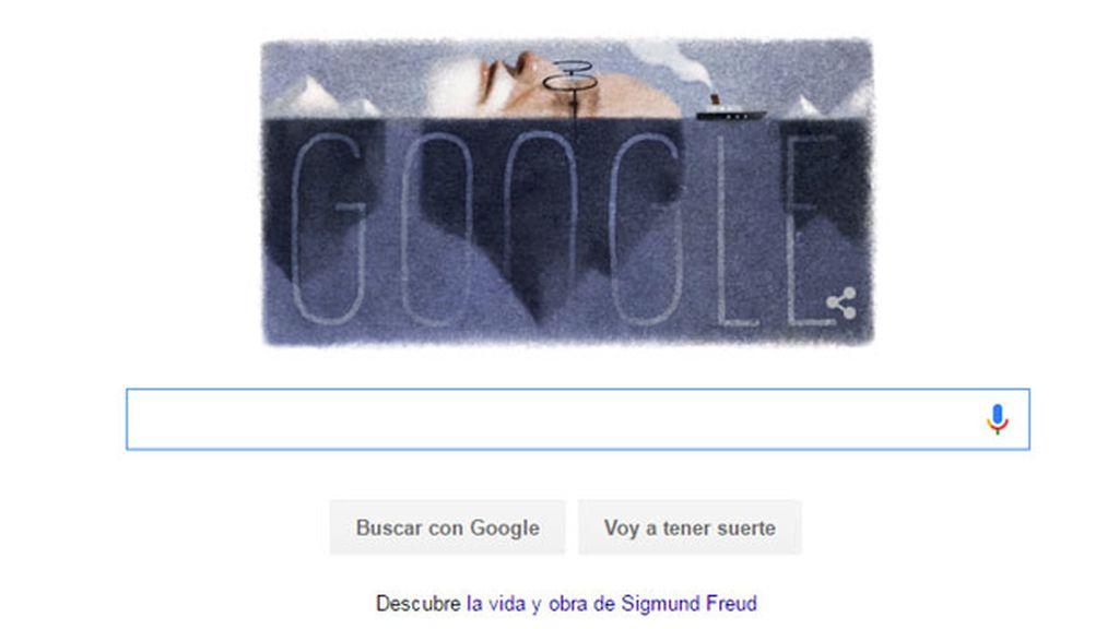 Google dedica su doodle al 160 cumpleaños de Sigmund Freud