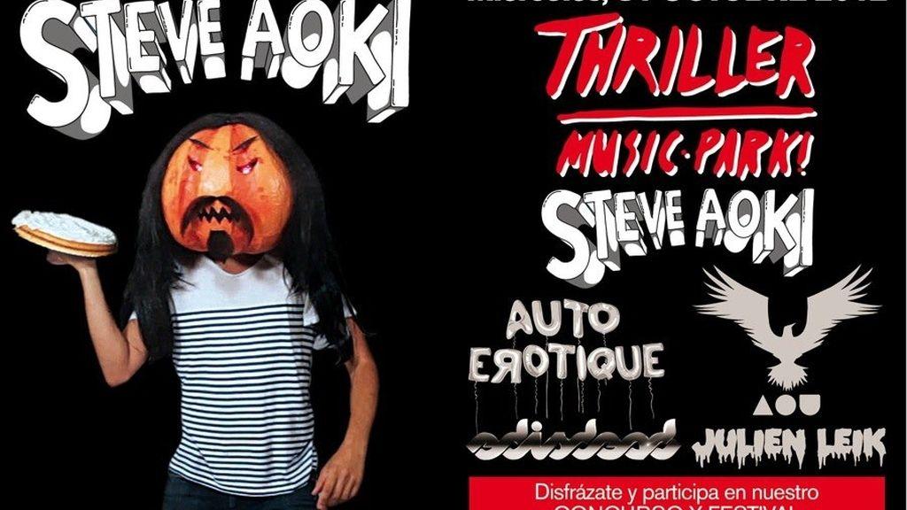 Cartel de la fiesta de Halloween del Madrid Arena en el que tres jóvenes han muerto
