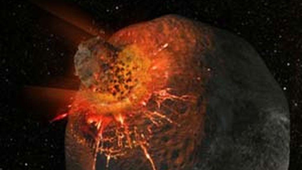 El impacto de un meteorito. Foto: EFE