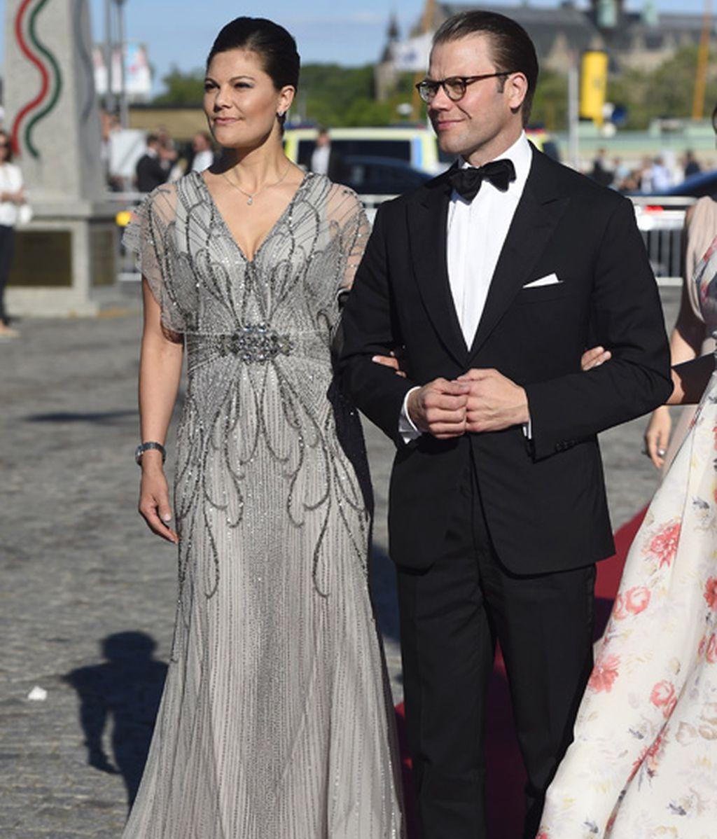 La princesa Victoria de Suecia y su marido, Daniel