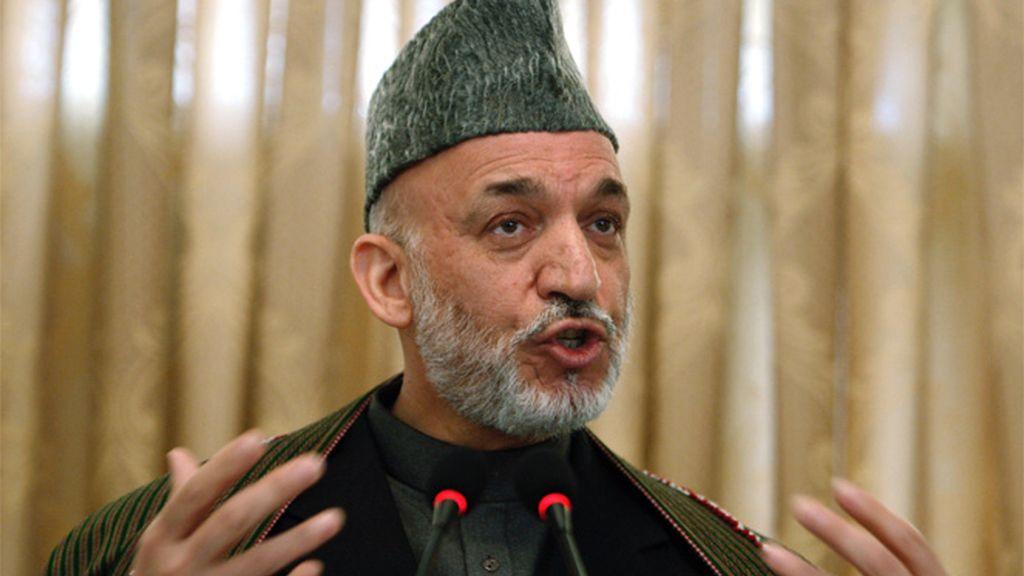 El líder afgano, Hamid Karzai