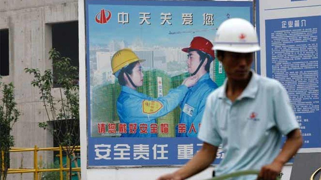 Un trabajador chino