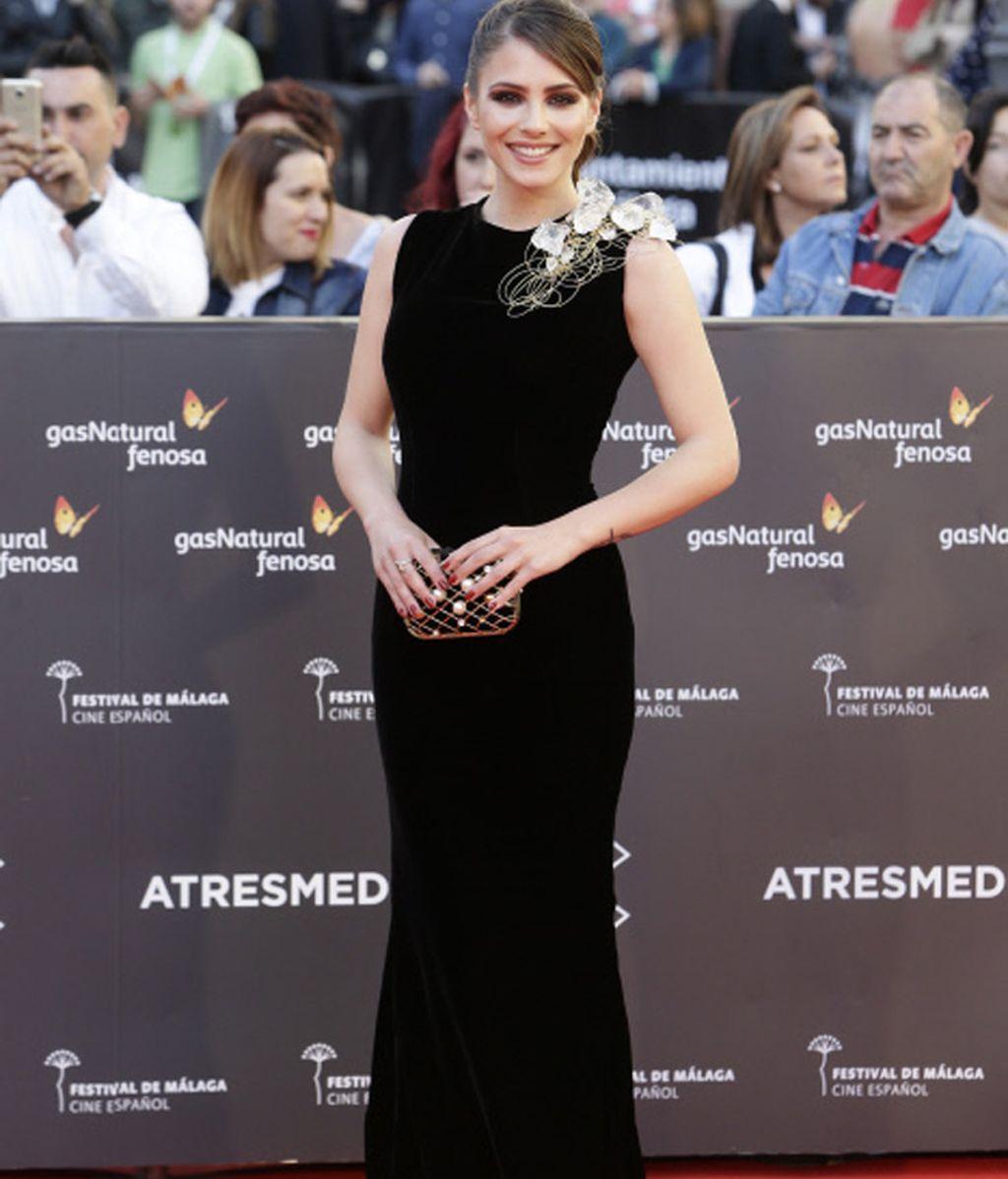 La actriz Andrea Duro en la alfombra roja del Festival de Cine de Málaga