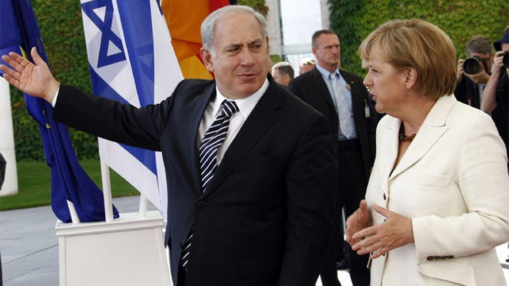 Netanyahu y Angela Merkel