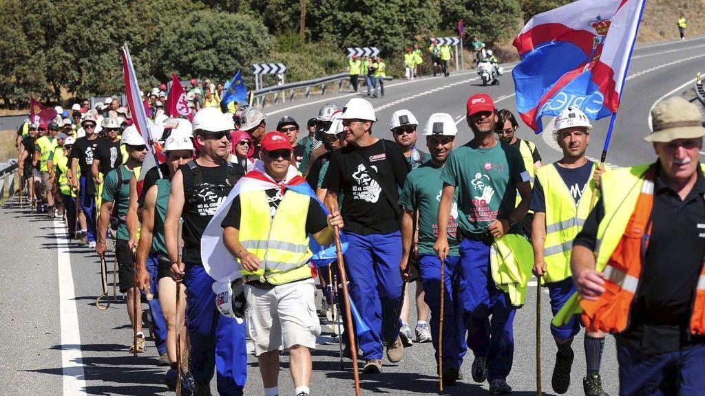 Marcha de los mineros a Madrid