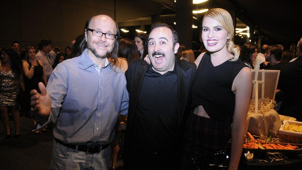 Santiago Segura, Carlos Areces y Adriana Abenia