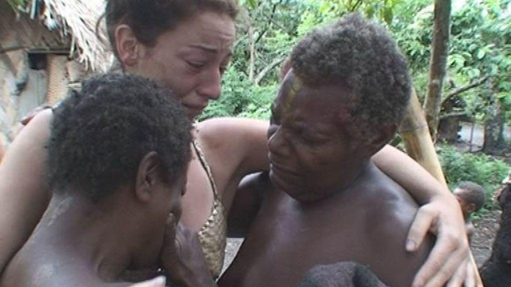 Lloros en Vanuatu a la hora de la despedida