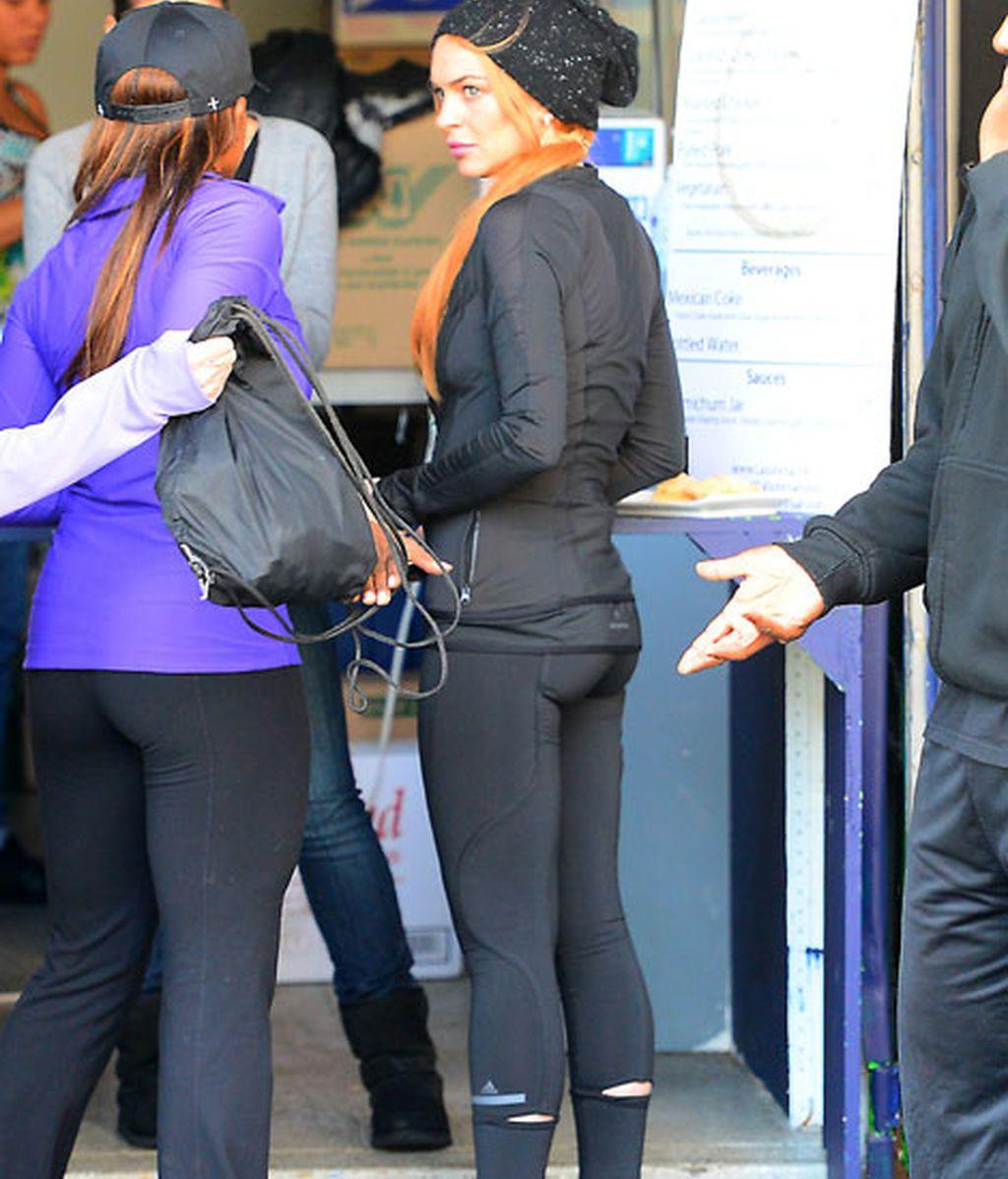 Lindsay Lohan, al gym, al único sitio que va discreta