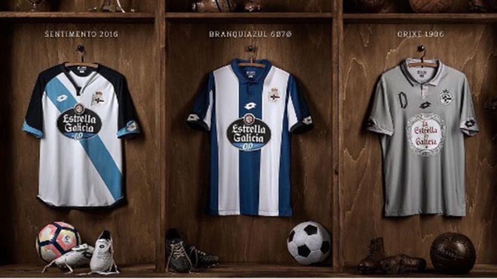 Equipación del Deportivo de la Coruña en la temporada 2016/2017