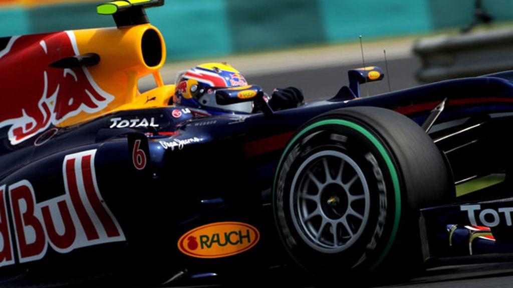 Webber vuela sobre Hungaroring