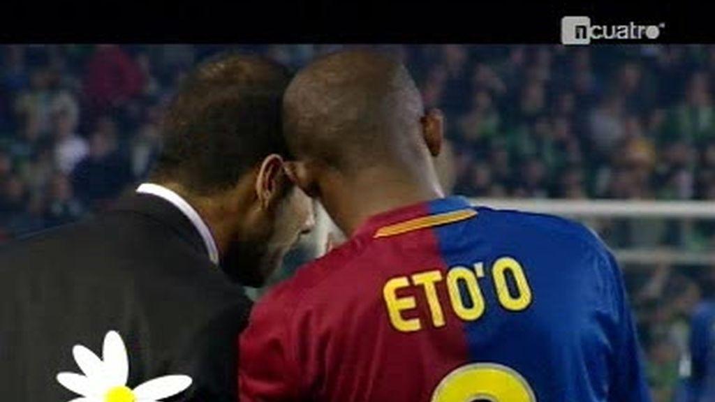 Eto'o y Guardiola: la margarita dijo no