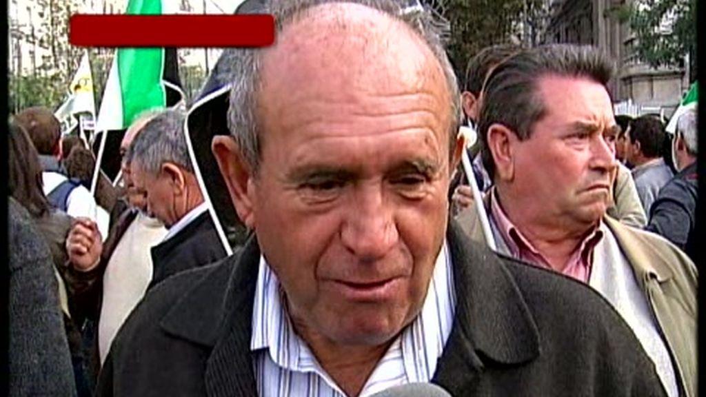 Manifestación de agricultores y ganaderos en Madrid