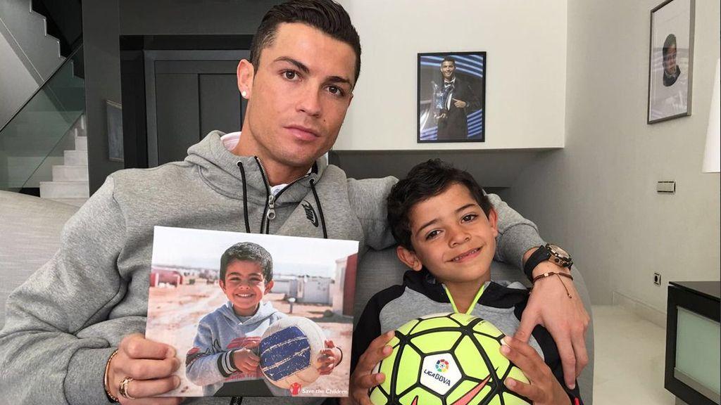 Cristiano Ronaldo se solidariza con los niños sirios