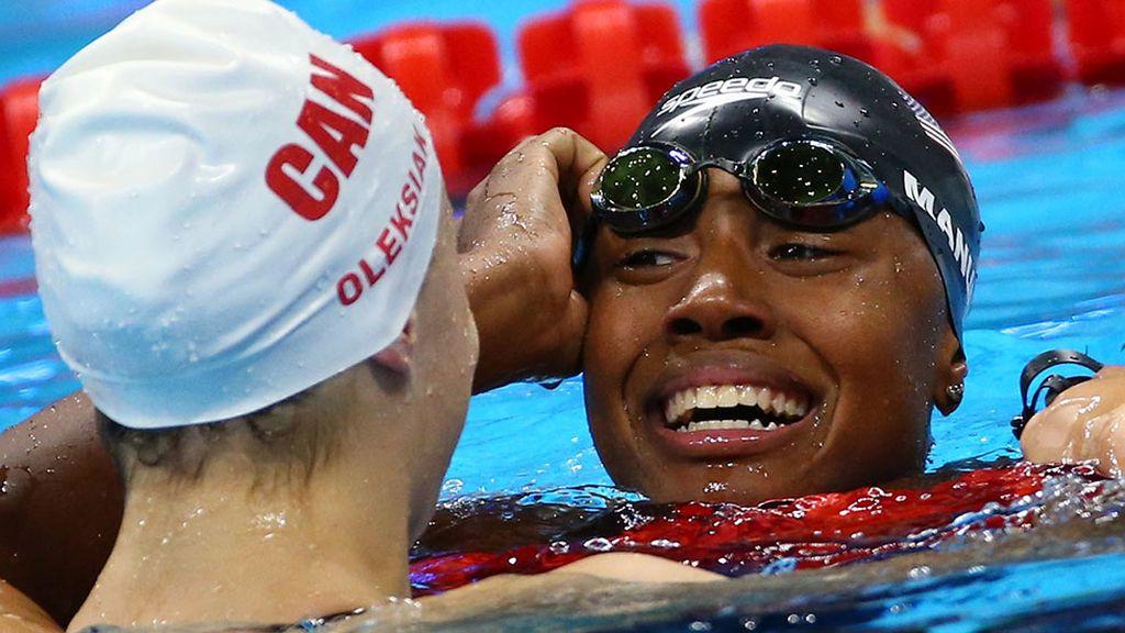 La primera afroamericana en ganar un oro en natación (12/08/2016)