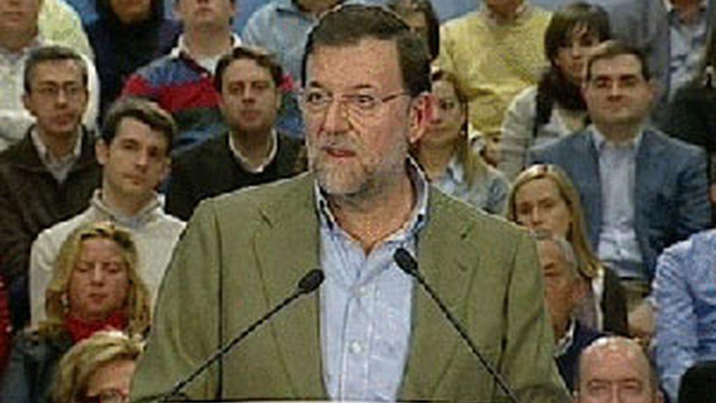 El líder del PP ha participado en un acto en Santurzi, en Vizcaya. Vídeo: ATLAS.