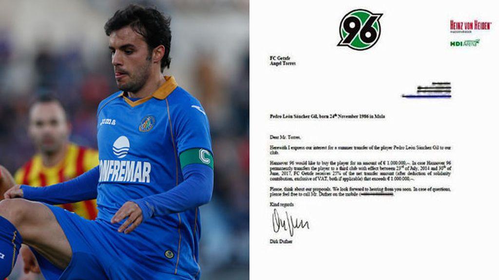 Pedro León y la carta del Hannover 96