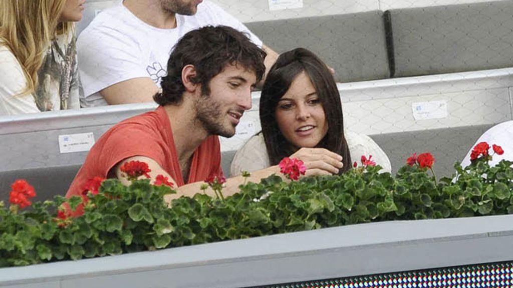 Los futbolistas llevan a sus novias al tenis