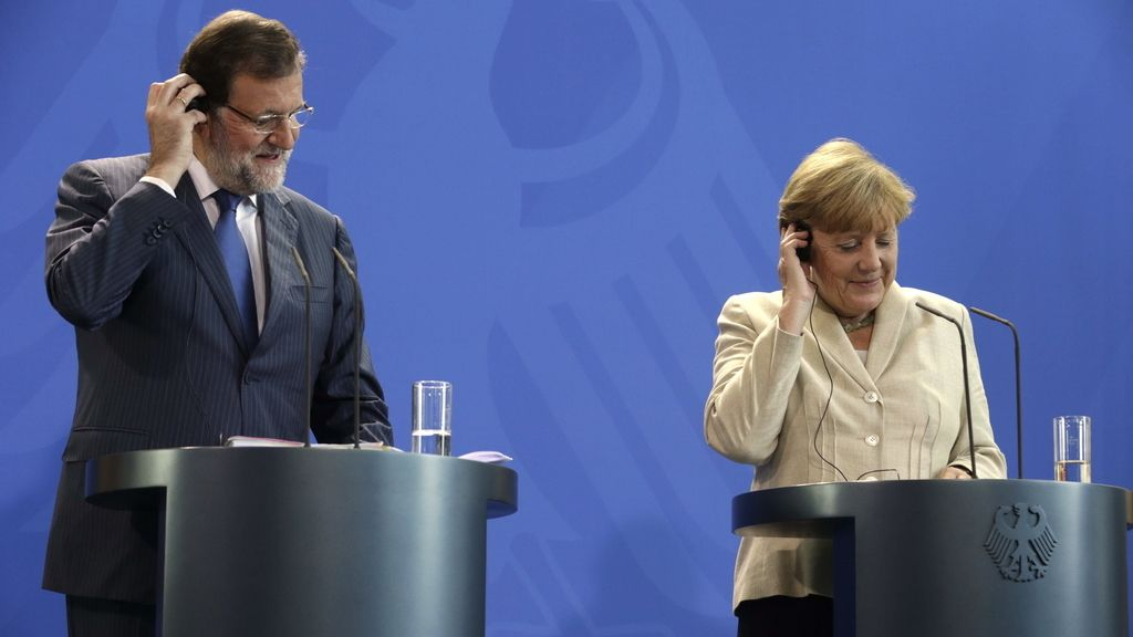 Rueda de prensa conjunta de Mariano Rajoy y Angela Merkel en Berlín