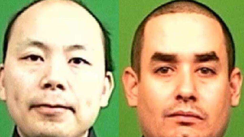 Los dos agentes de policía muertos a tiros en Nueva York