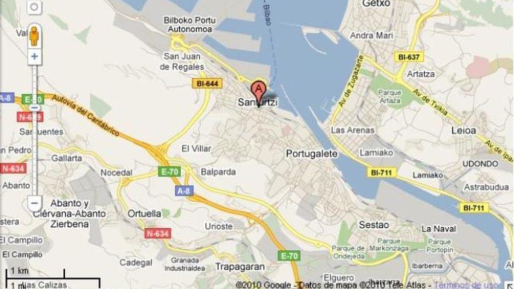 Dos personas muertas en un incendio en un restaurante abandonado en Santurtzi