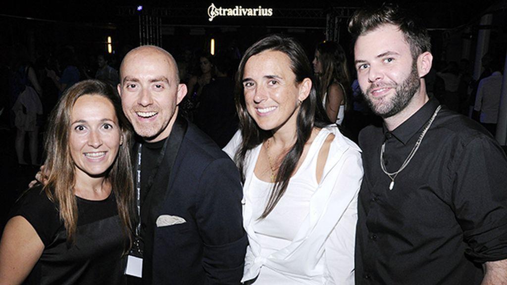 Dolors Borrás (Piazza Comunicación), David Castillo, Marta Pedruelo y Marc Torralba