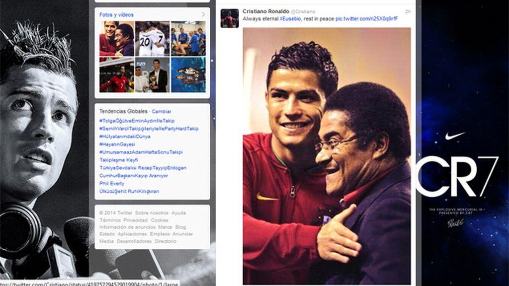 Cristiano Ronaldo se despide de Eusebio en Twitter