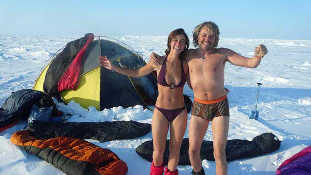 Probando los equipos en la costa de Svalbard