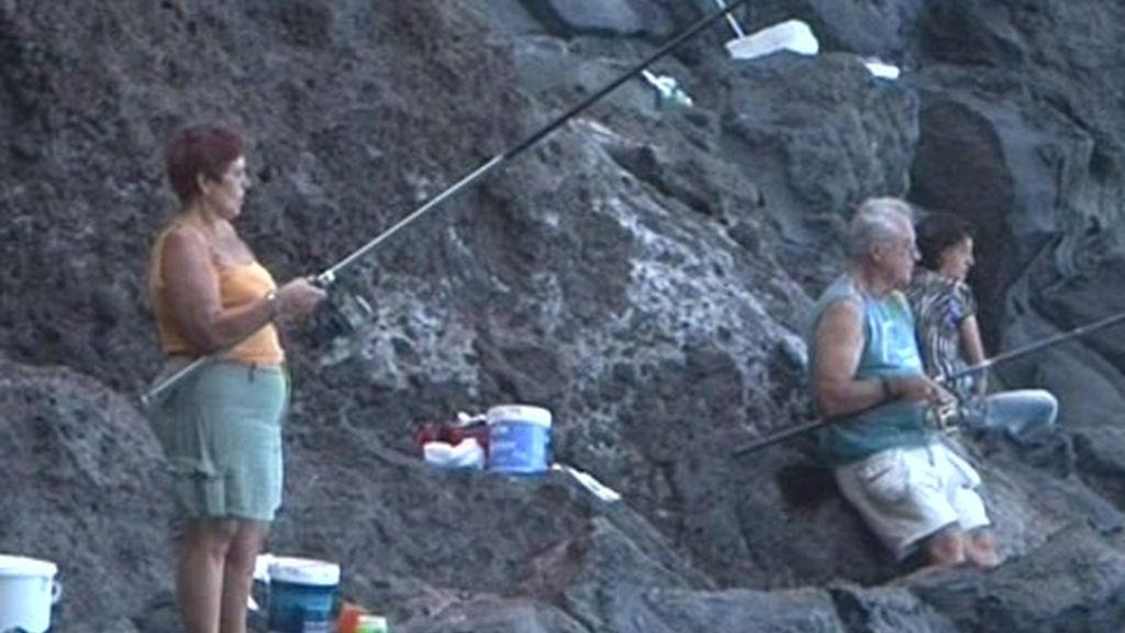 Concurso de pesca y paella gigante en Tijarafe