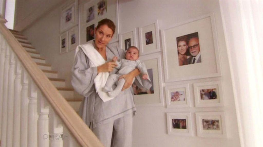 Céline Dion enseña a sus mellizos en el show de Oprah Winfrey
