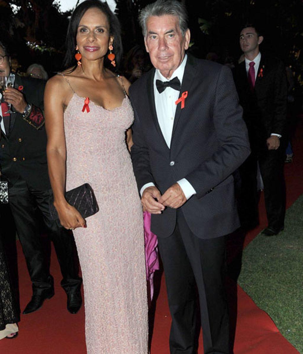 Manolo Santana y su mujer, Claudia Rodríguez