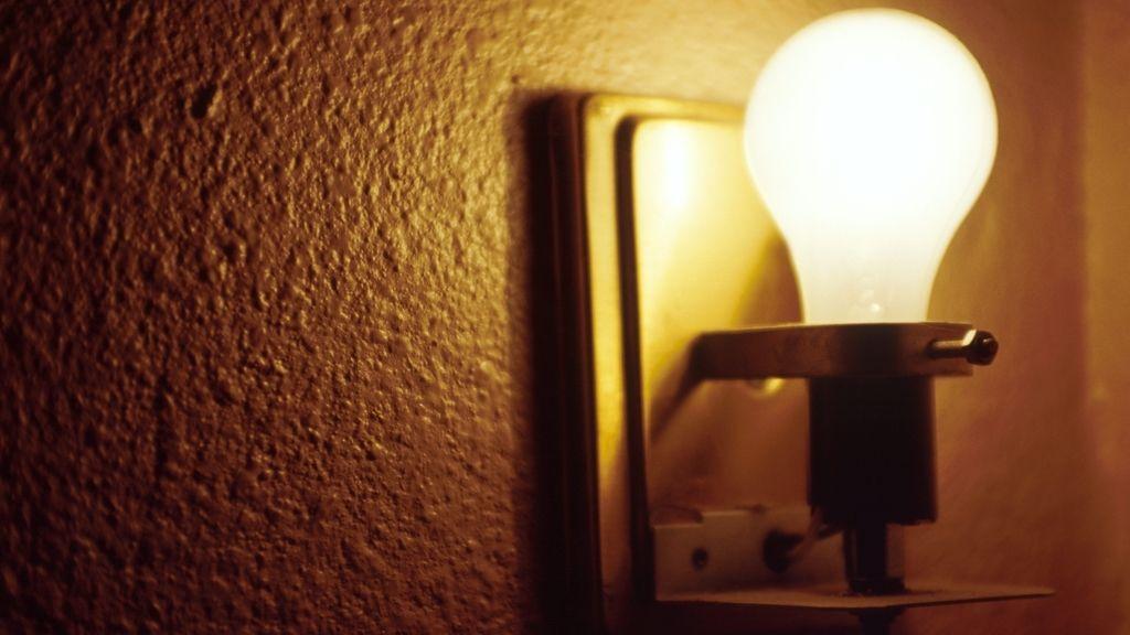 Bombilla iluminada